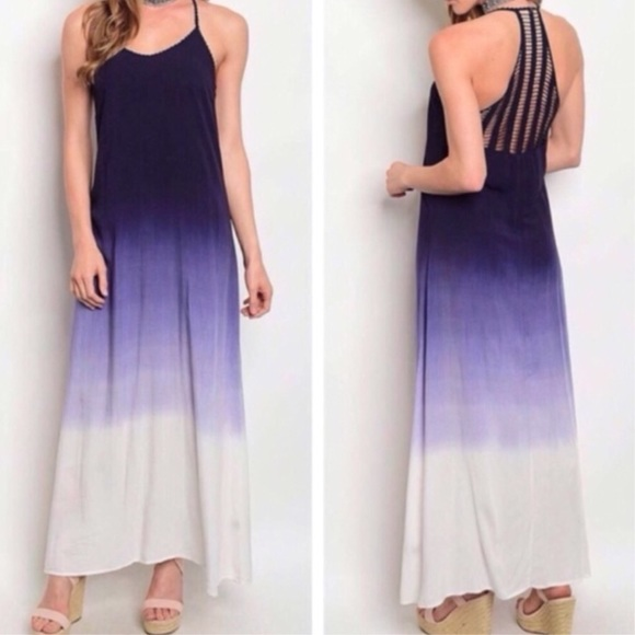 Dresses & Skirts - Navy Ombré Maxi Dress